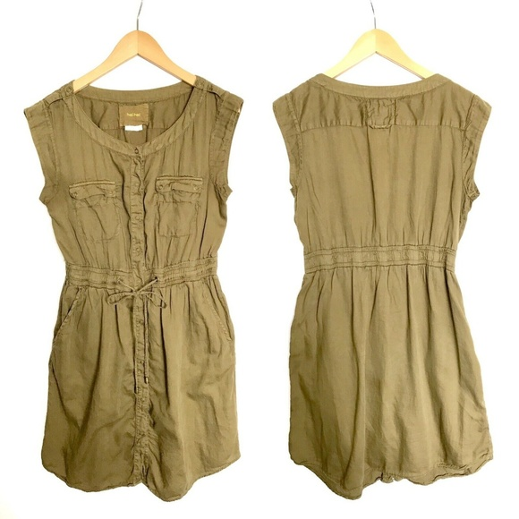 Anthropologie Dresses & Skirts - ANTHRO HEI HEI Sleeveless Drawstrings Safari Dress